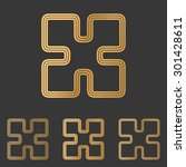 bronze line science logo design ...