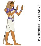 pharaoh   egyptian ancient... | Shutterstock .eps vector #301432439