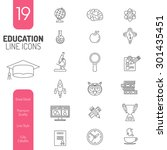 online education thin lines web ... | Shutterstock .eps vector #301435451