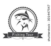 label fishing tuna  vector | Shutterstock .eps vector #301447547