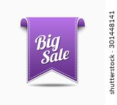 big sale violet vector icon... | Shutterstock .eps vector #301448141