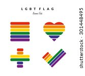 lgbt pride flag rainbow icons... | Shutterstock .eps vector #301448495