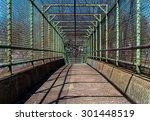 steel gate walkway. walkway... | Shutterstock . vector #301448519