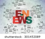 news concept  painted... | Shutterstock . vector #301452089