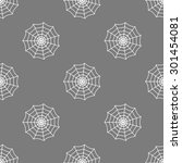 seamless pattern with cobweb | Shutterstock .eps vector #301454081