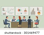 businesspeople  man and woman ... | Shutterstock .eps vector #301469477