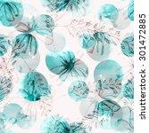 floral seamless pattern | Shutterstock . vector #301472885