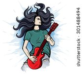 vector color electric guitar... | Shutterstock .eps vector #301488494
