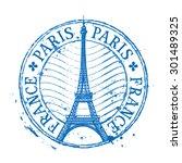 paris vector logo design... | Shutterstock .eps vector #301489325