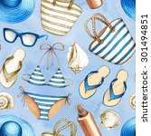 summer holiday pattern | Shutterstock . vector #301494851