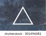 white flat triangle on abstract ... | Shutterstock . vector #301496081