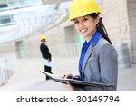 a pretty asian woman working as ... | Shutterstock . vector #30149794