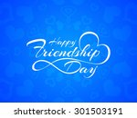 happy friendship day vector... | Shutterstock .eps vector #301503191