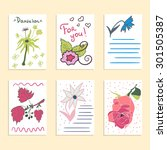 collection of hand drawn... | Shutterstock .eps vector #301505387