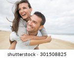 portrait of living young couple ... | Shutterstock . vector #301508825