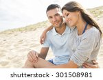 portrait of living young couple ... | Shutterstock . vector #301508981
