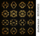 ornate vector set. decorative... | Shutterstock .eps vector #301510211