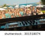 dj mixer on pool party   Shutterstock . vector #301518074