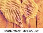 honeycomb background retro | Shutterstock . vector #301522259