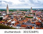 The Medieval City Bruges From A ...