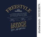 skateboarding t shirt graphic... | Shutterstock . vector #301533074