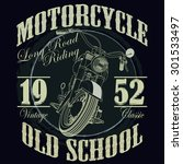 motorcycle racing typography... | Shutterstock . vector #301533497
