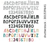 set of hand drawn alphabet... | Shutterstock .eps vector #301539641