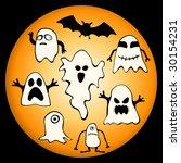 vector collection of halloween...   Shutterstock .eps vector #30154231