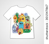t shirt with abstract set of... | Shutterstock .eps vector #301547867