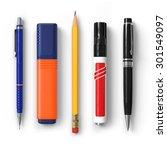 pen.pencil.marker.highlighter... | Shutterstock . vector #301549097