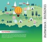 landscape infographics. lake... | Shutterstock .eps vector #301562411