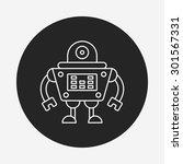 robot line icon | Shutterstock .eps vector #301567331