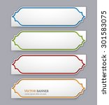set of colorful banners template | Shutterstock .eps vector #301583075