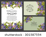 wedding invitation cards with... | Shutterstock .eps vector #301587554