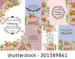 wedding invitation cards with... | Shutterstock .eps vector #301589861