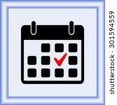 calendar sign icons  vector... | Shutterstock .eps vector #301594559