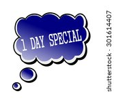 one day special white stamp... | Shutterstock . vector #301614407
