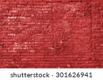 red aged grunge brick wall and... | Shutterstock . vector #301626941