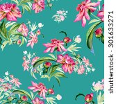 seamless pattern delicate... | Shutterstock . vector #301633271