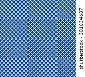 seamless pattern with blue... | Shutterstock .eps vector #301634687