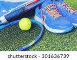 tennis equipment | Shutterstock . vector #301636739