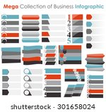 collection of infographic... | Shutterstock .eps vector #301658024
