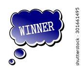 winner white stamp text on... | Shutterstock . vector #301661495