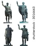 Four Roman Emperors Statues ...