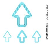 cyan line up logo design set