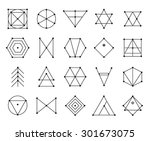 set of geometric shapes. trendy ... | Shutterstock .eps vector #301673075