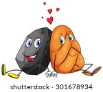 rock and a roll in love... | Shutterstock .eps vector #301678934