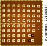 buttons game interface | Shutterstock .eps vector #301680854