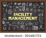 doodles about facility... | Shutterstock .eps vector #301681721