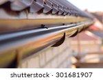 holder gutter drainage system...   Shutterstock . vector #301681907